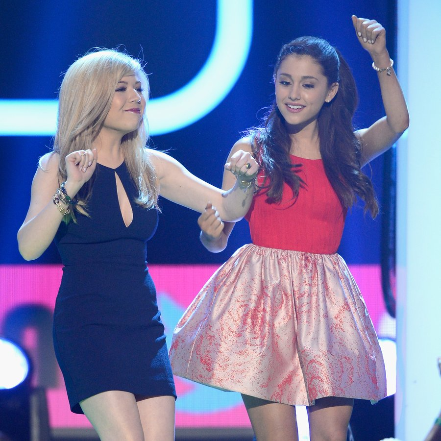 Jeannette McCurdy and Ariana Grande Nickelodeon's 26th Annual Kids' Choice Awards