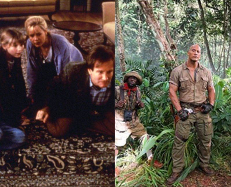 Jumanji then and now