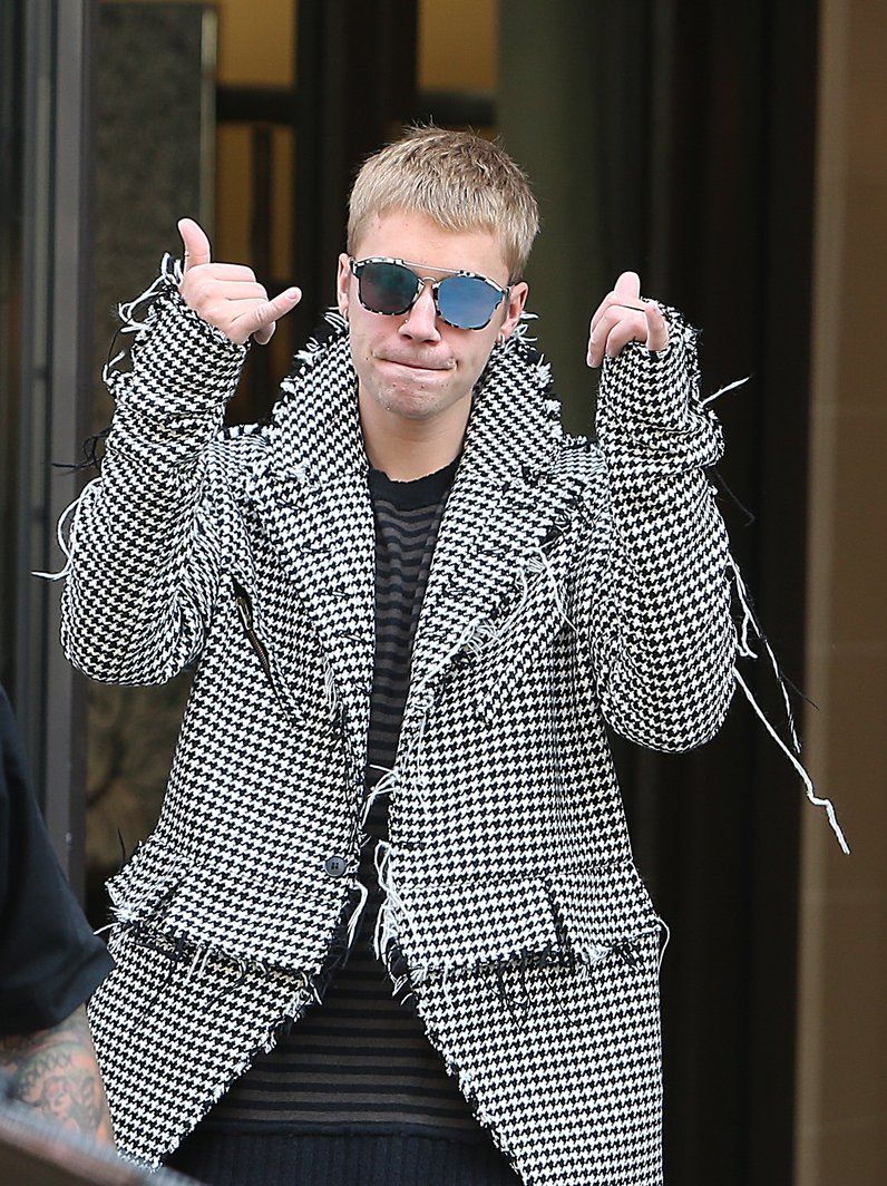 Justin Bieber out and about in Paris