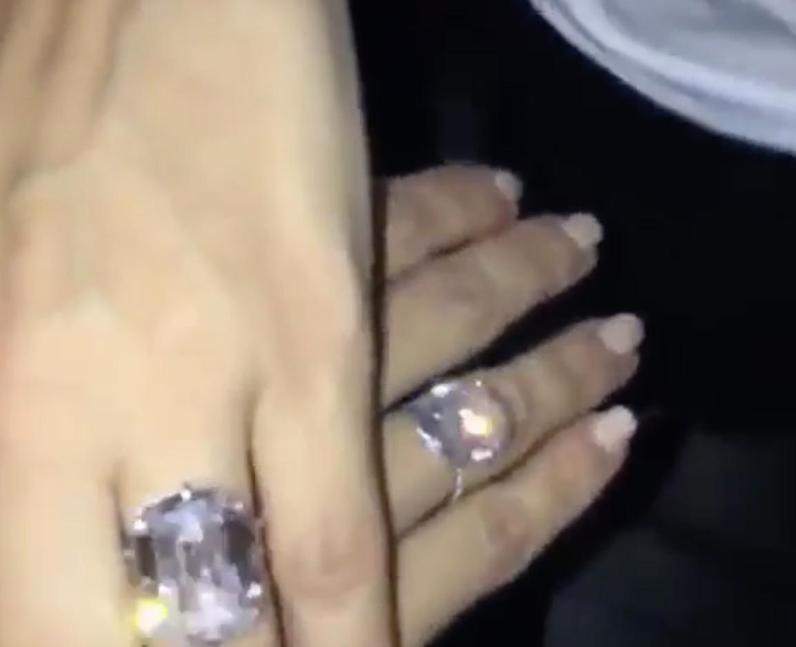 Kim Kardashian is gifted a matching diamond ring b