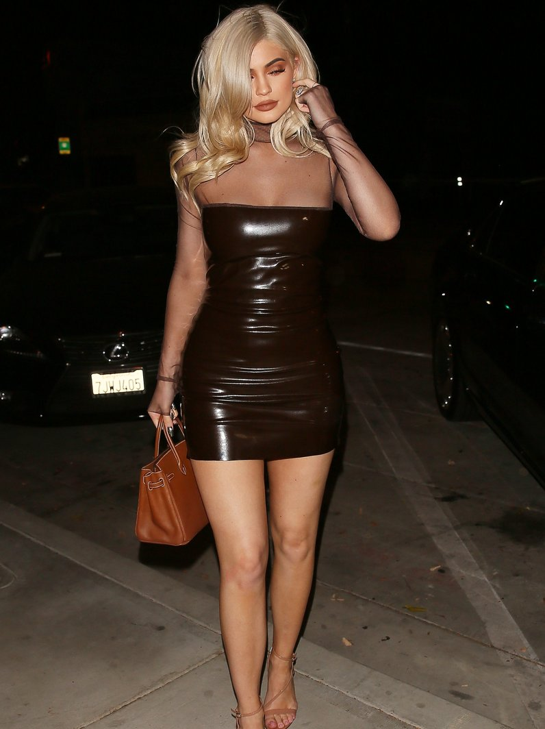 Kylie Jenner wows in leather