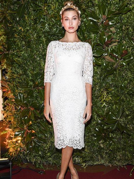 Hailey Baldwin at Dolce and Gabbana event