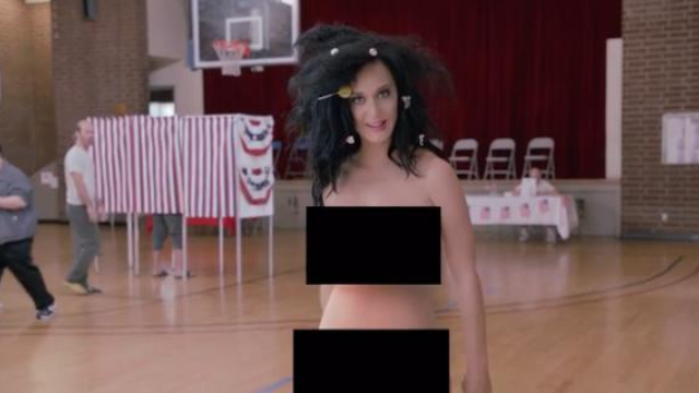 Watch Katy Perry Got Totally Naked, And Used Her Body As -4135