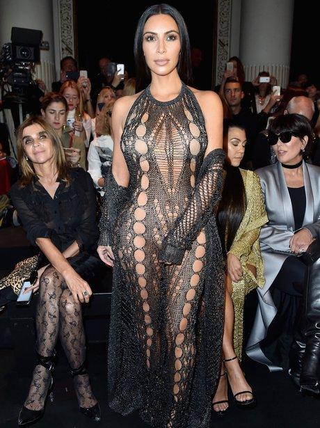 Kim Kardashian in sheer dress