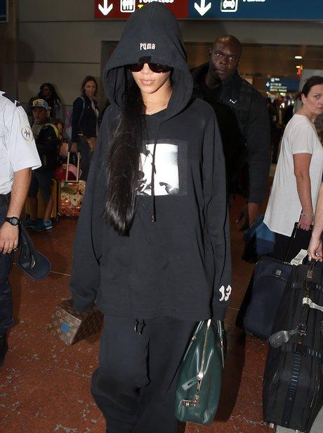 Rihanna arrives in Paris for Fashion Week