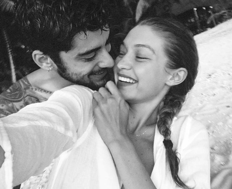 Zayn and Gigi cosy up in cute holiday photo