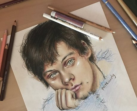 A One Direction fan draws one of Harry Styles' AnO