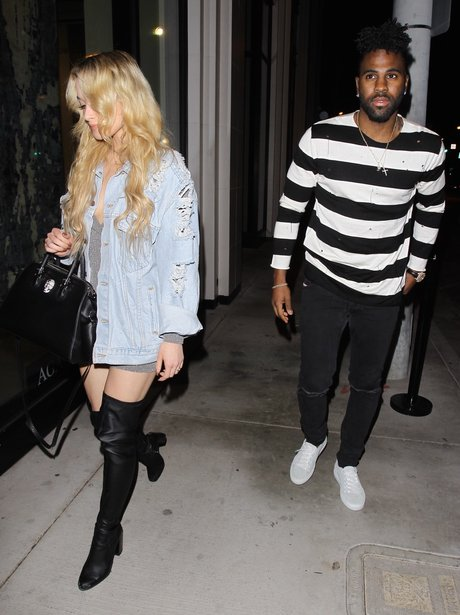 Jason Derulo on date night with mystery blonde