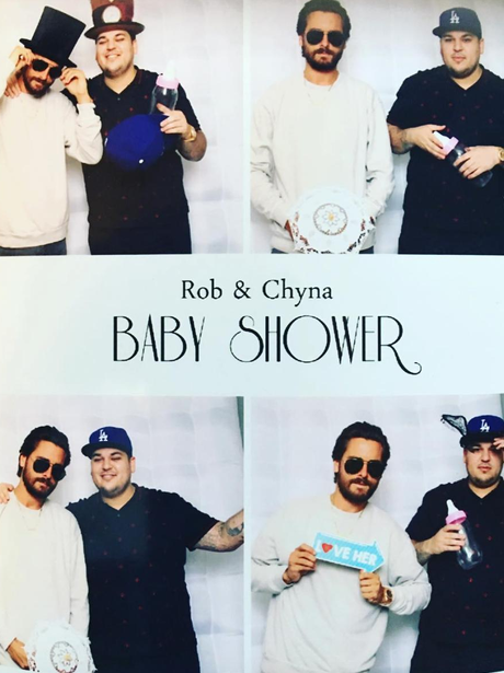 Scott Disick and Rob Kardashian at Rob and Chyna's