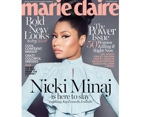 Nicki Minaj on the cover of Marie Claire
