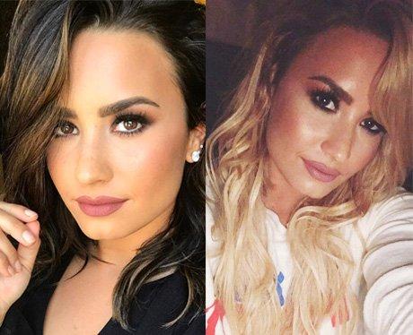 Demi Lovato blonde to brunette