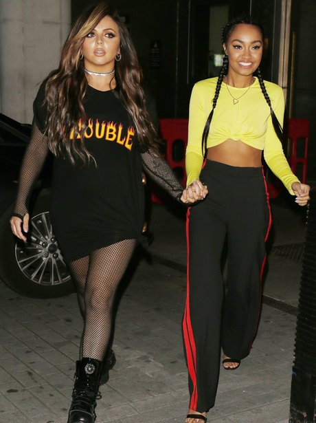 Jesy Nelson and Leigh-Anne Pinnock out promoting n