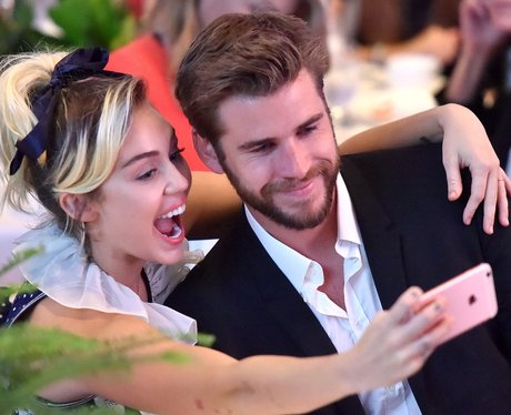 Miley Cyrus and Liam Hemsworth attend first event