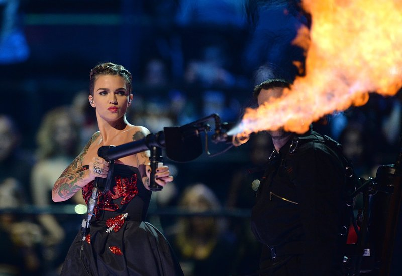 Ruby Rose Flamethrower