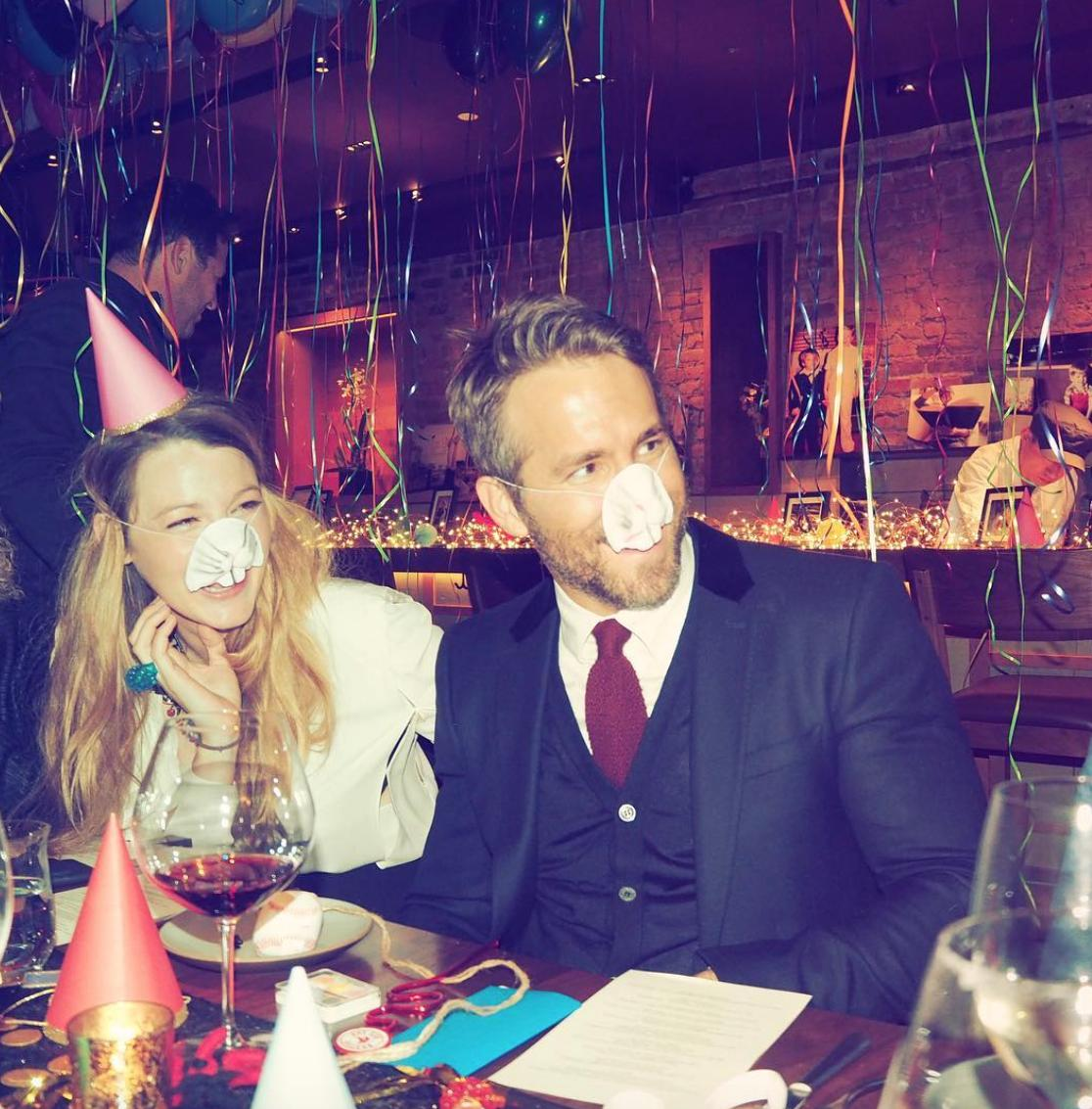 Blake Lively and Ryan Reynolds celebrate his 40th