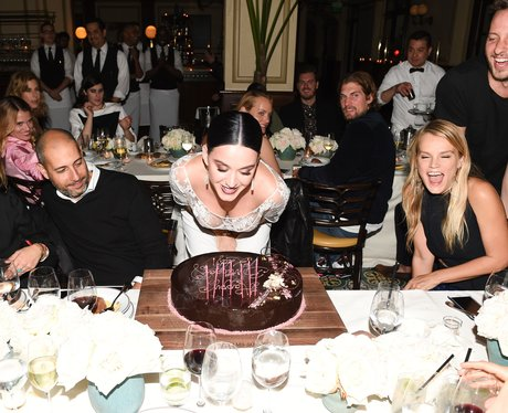 Katy Perry celebrates her birthday at Vogue event