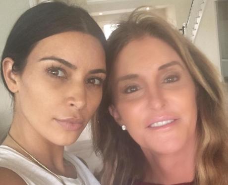 Kim Kardashian and Caitlyn Jenner pose for a selfi