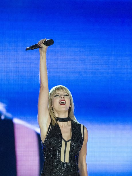 Taylor Swift performs live for the first time duri