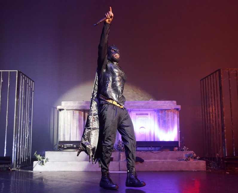 Tinie Tempah Batman Monster Mash-Up 2016 London