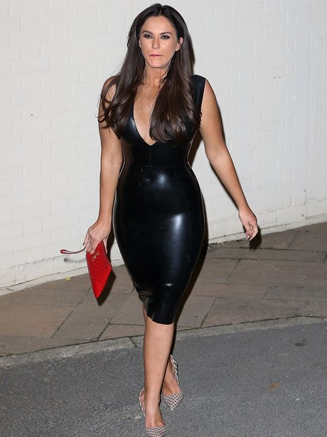 Vicky Pattison in leather dress