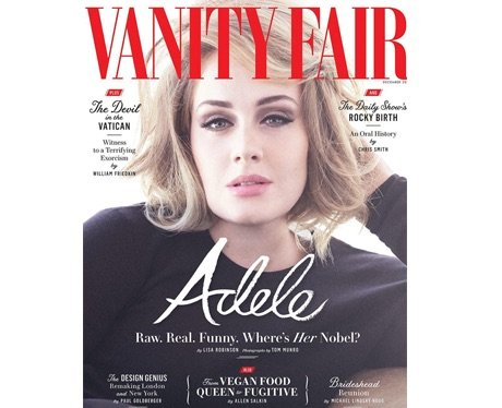 Adele on the cover of Vanity Fair