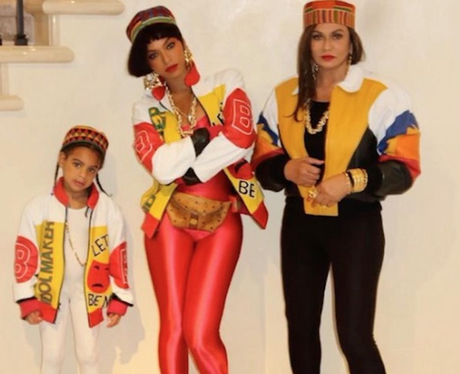 Beyonce and Blue-Ivy co-ordinate their outfits