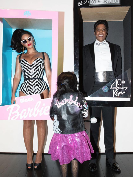Beyonce, Jay-Z and Blue Ivy dress up as dolls for