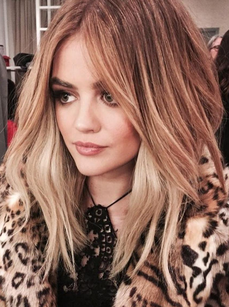 Lucy Hale with blonde hair