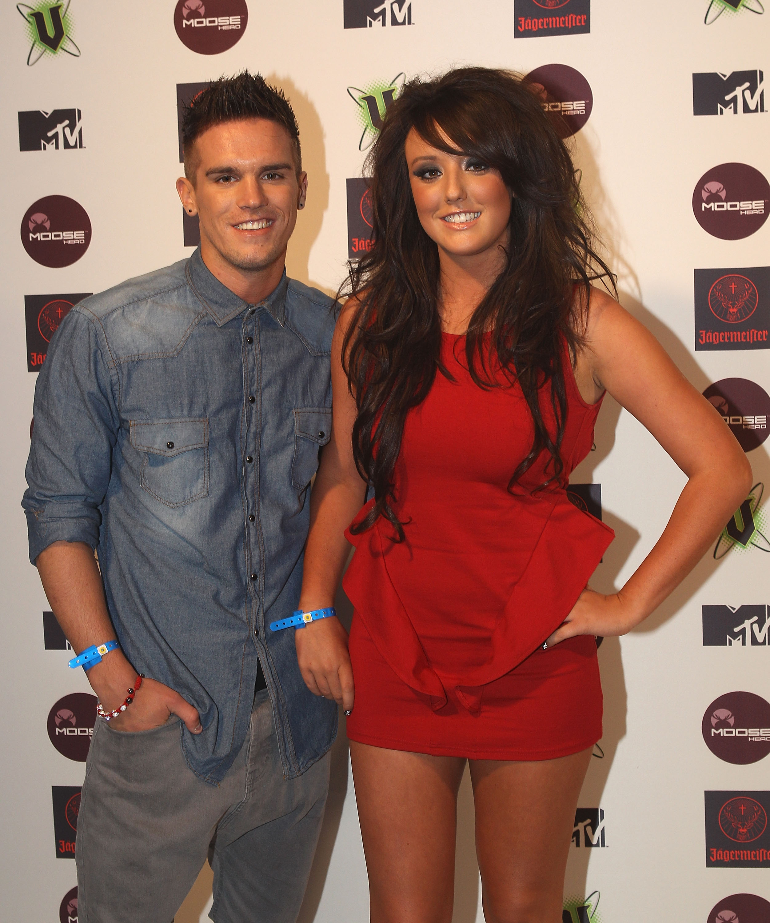 Charlotte Crosby & Gaz Beadle at the MTV Snow Jam