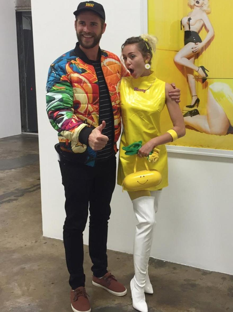 Liam Hemsworth and Miley Cyrus co-ordinate fancy d