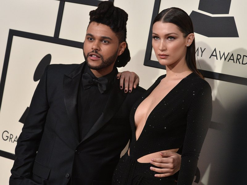 The Weeknd & Bella Hadid GRAMMY Awards 2016