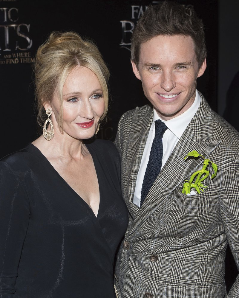 Eddie Redmayne with JK Rowling