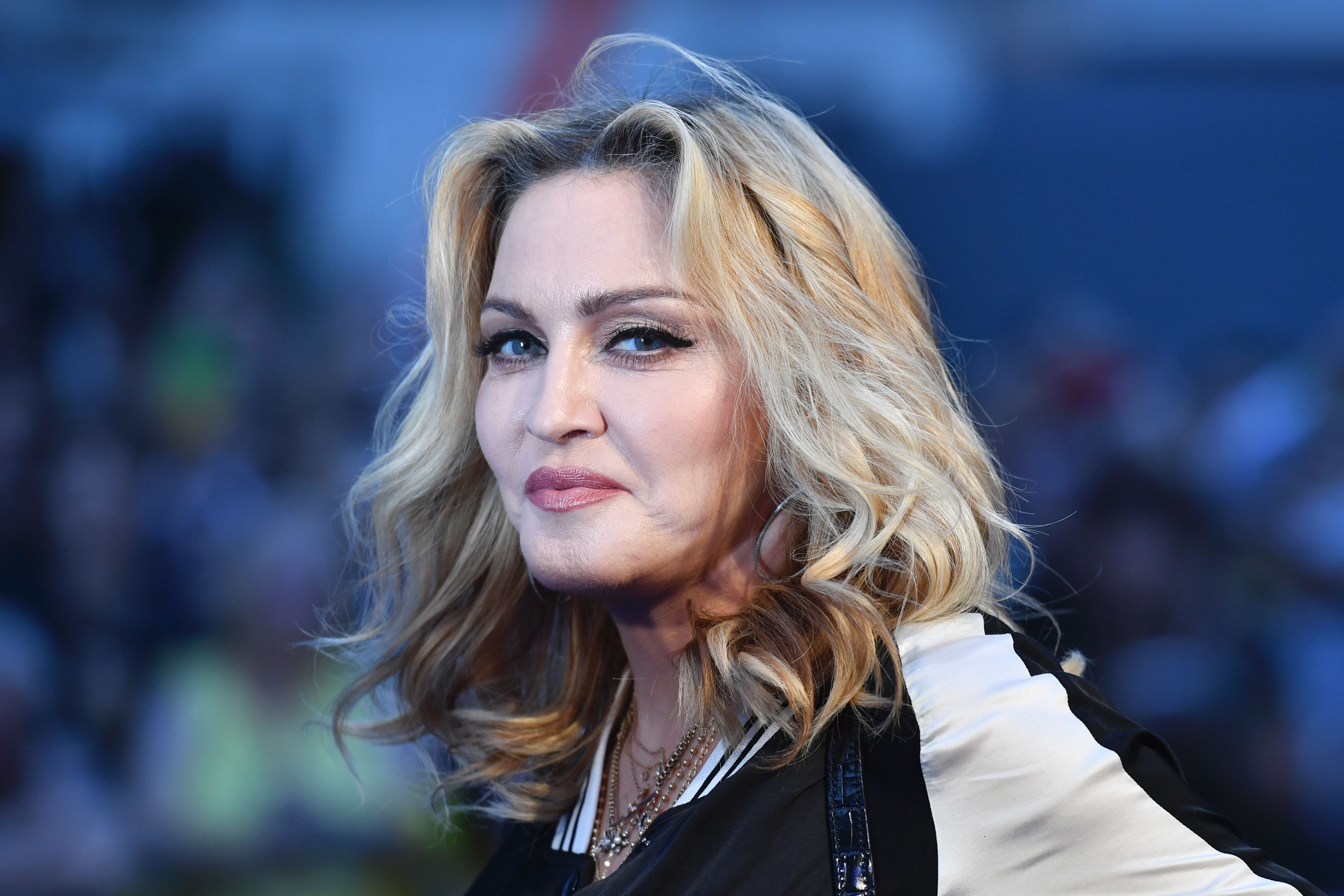 Madonna at     BRITAIN-ENTERTAINMENT-MUSIC-CINEMA-