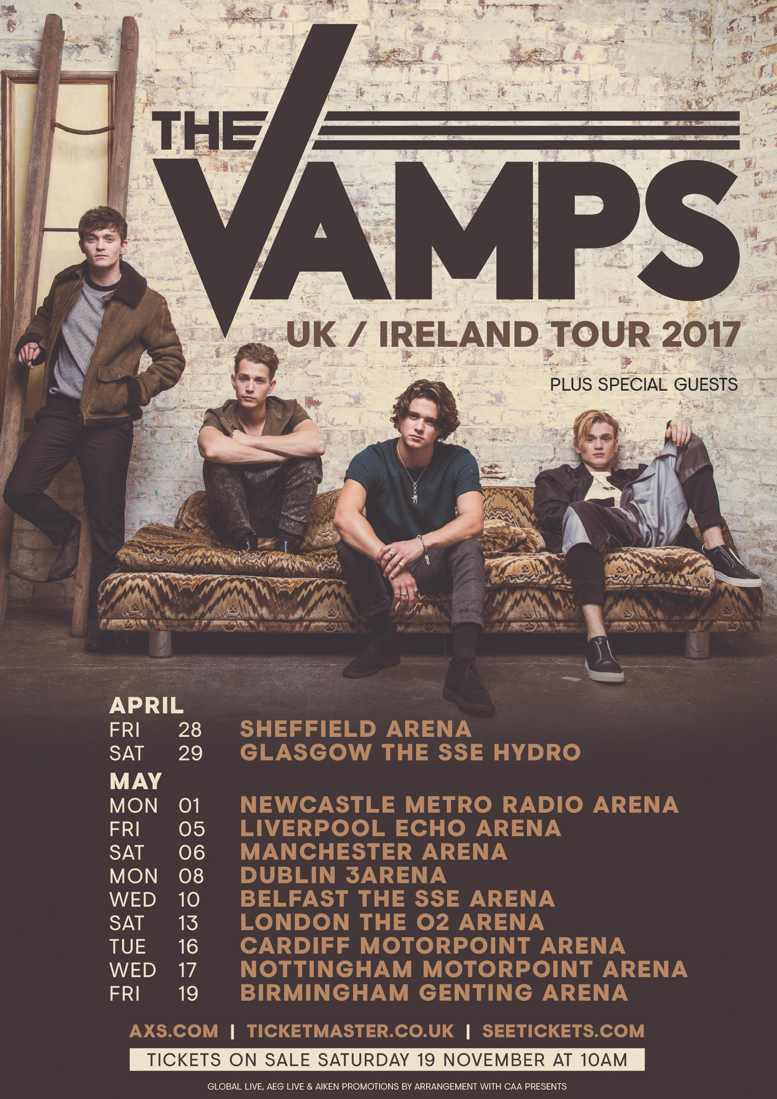 The Vamps 2017 Uk Tour Dates Find Out How To Get Your Tickets