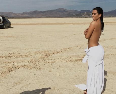 Unseen photos of Kim Kardashian on desert shoot