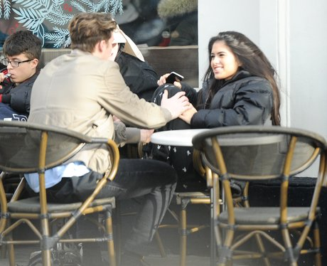 Brooklyn Beckham out for lunch with Kim Turnball