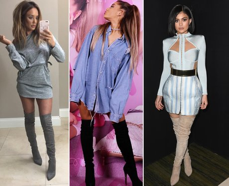 Charlotte Crosby Ariana Grande Kylie Jenner boots
