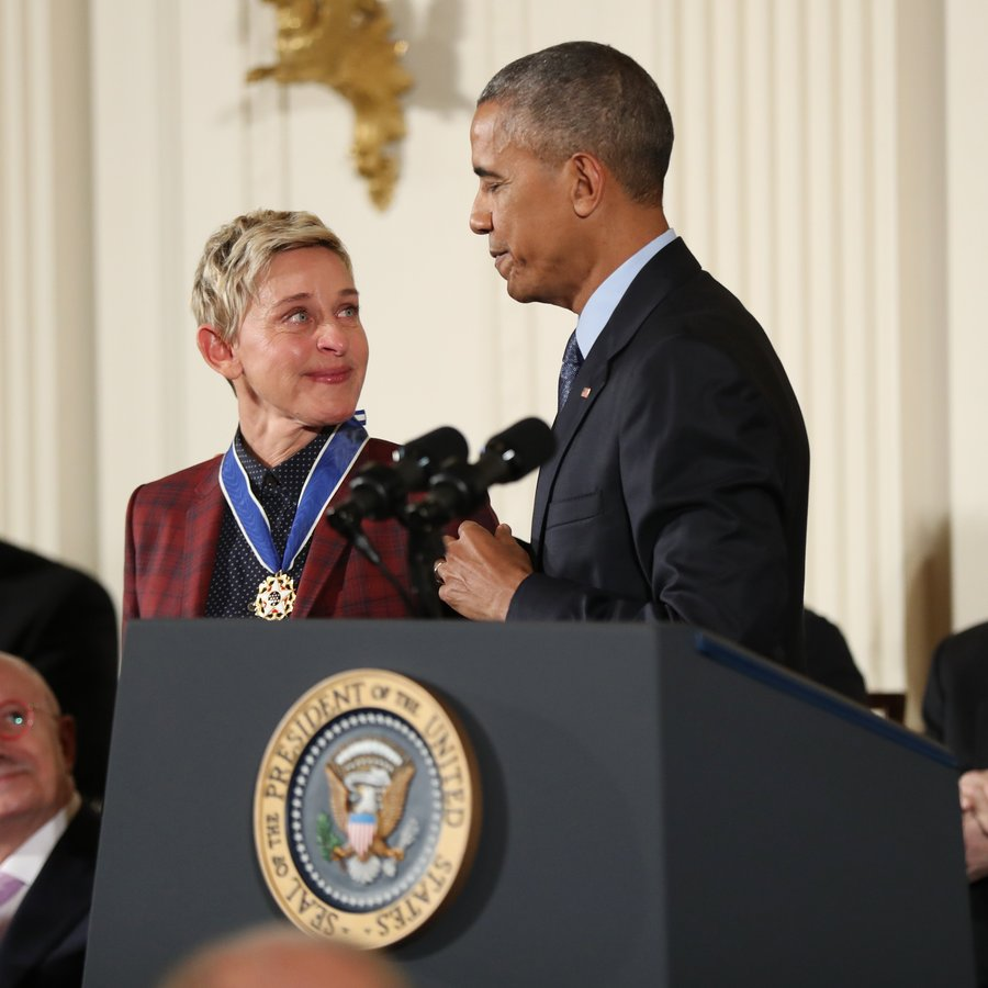 Ellen DeGeneres Obama Medal of Freedom