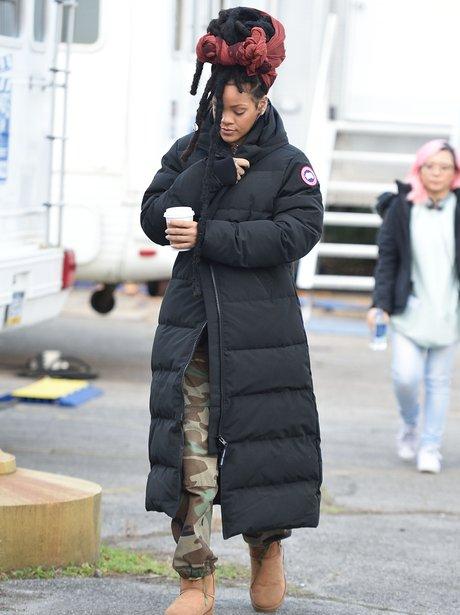 Rihanna on set of Ocean's Eight