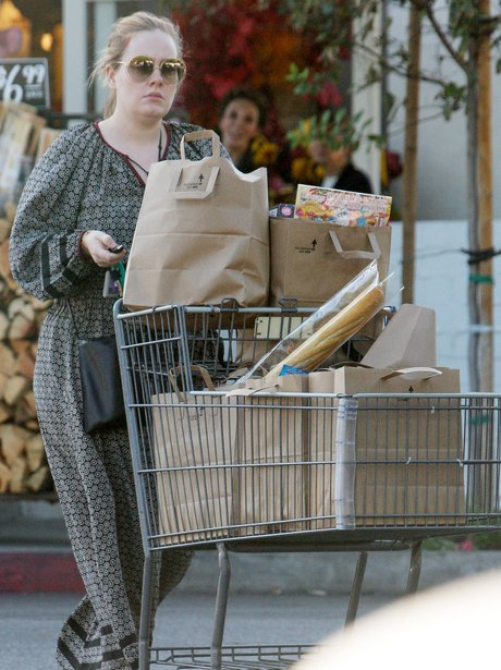 Adele spotted out shopping after baby revelation