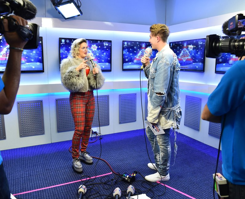 Anne Marie and Roman Kemp Backstage JBB