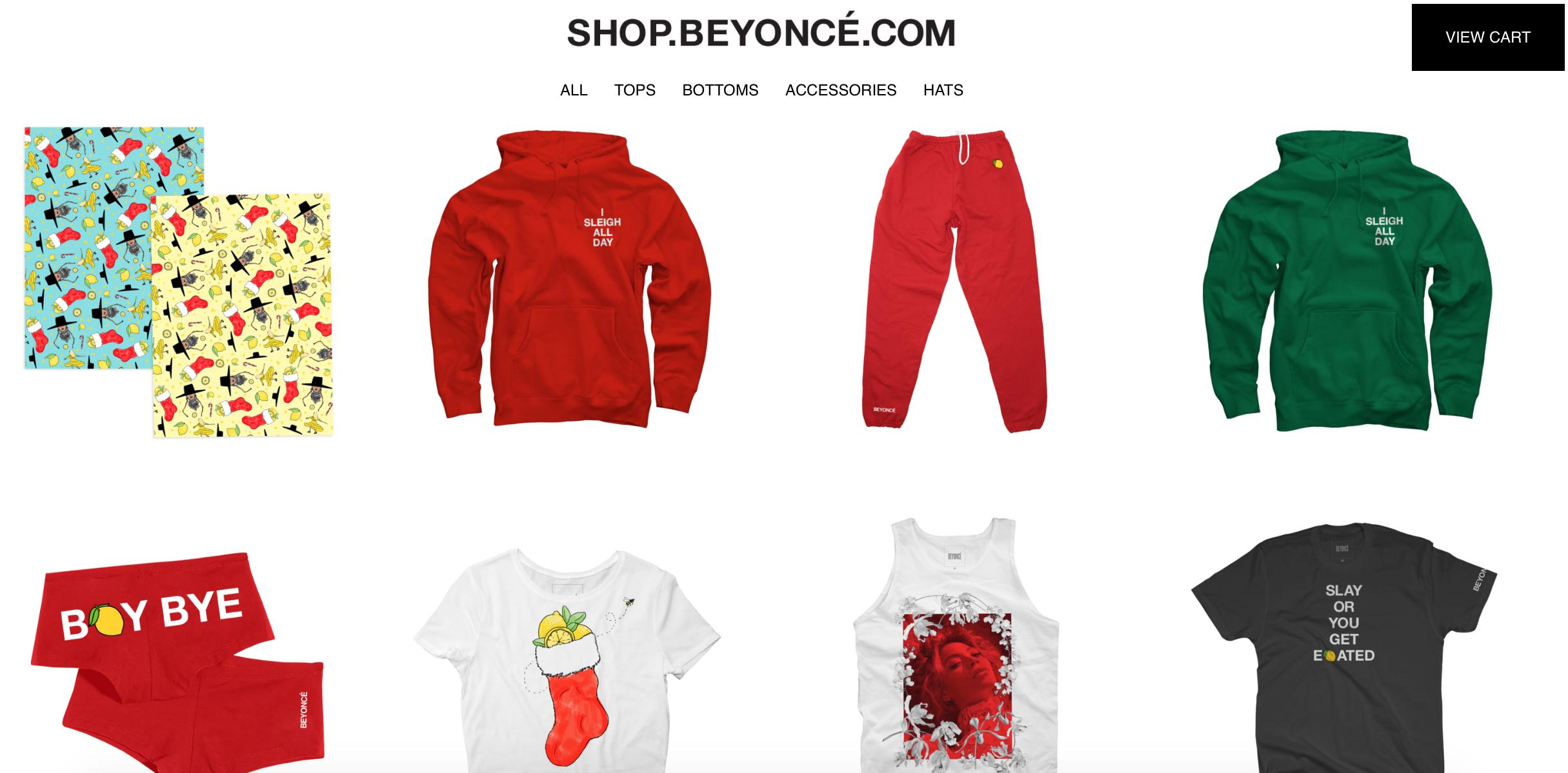 Beyonce Christmas merch