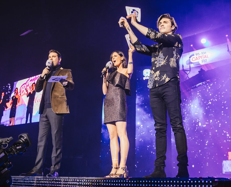 Dave Berry George Lilah Jingle Bell Ball 2016 pres