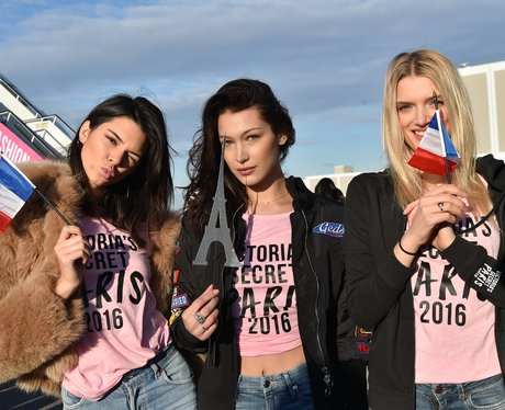 Kendall Jenner and Bella Hadid land in Paris for V