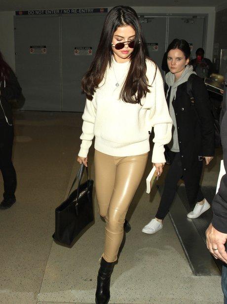 Selena Gomez spotted landing into LA airport