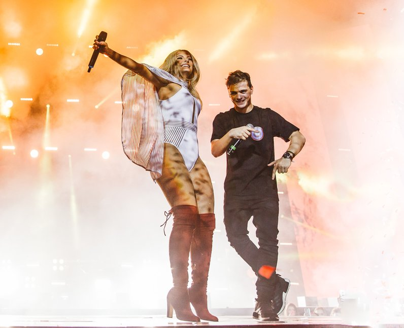 Bebe Rexha and Martin Garrix Jingle Bell Ball 2016