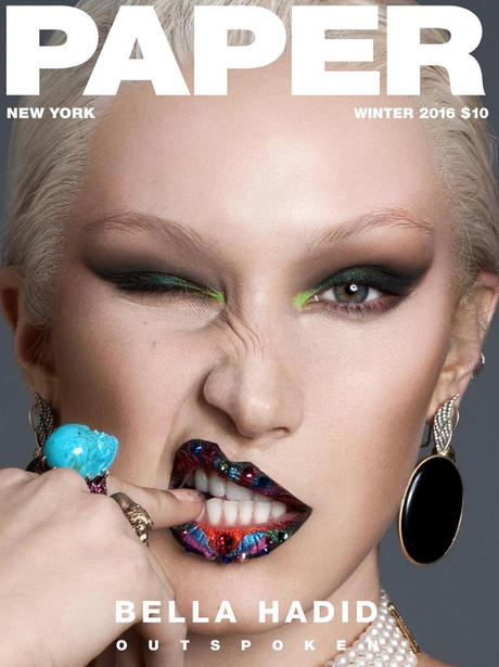 Bella Hadid on the cover of Paper Magazine