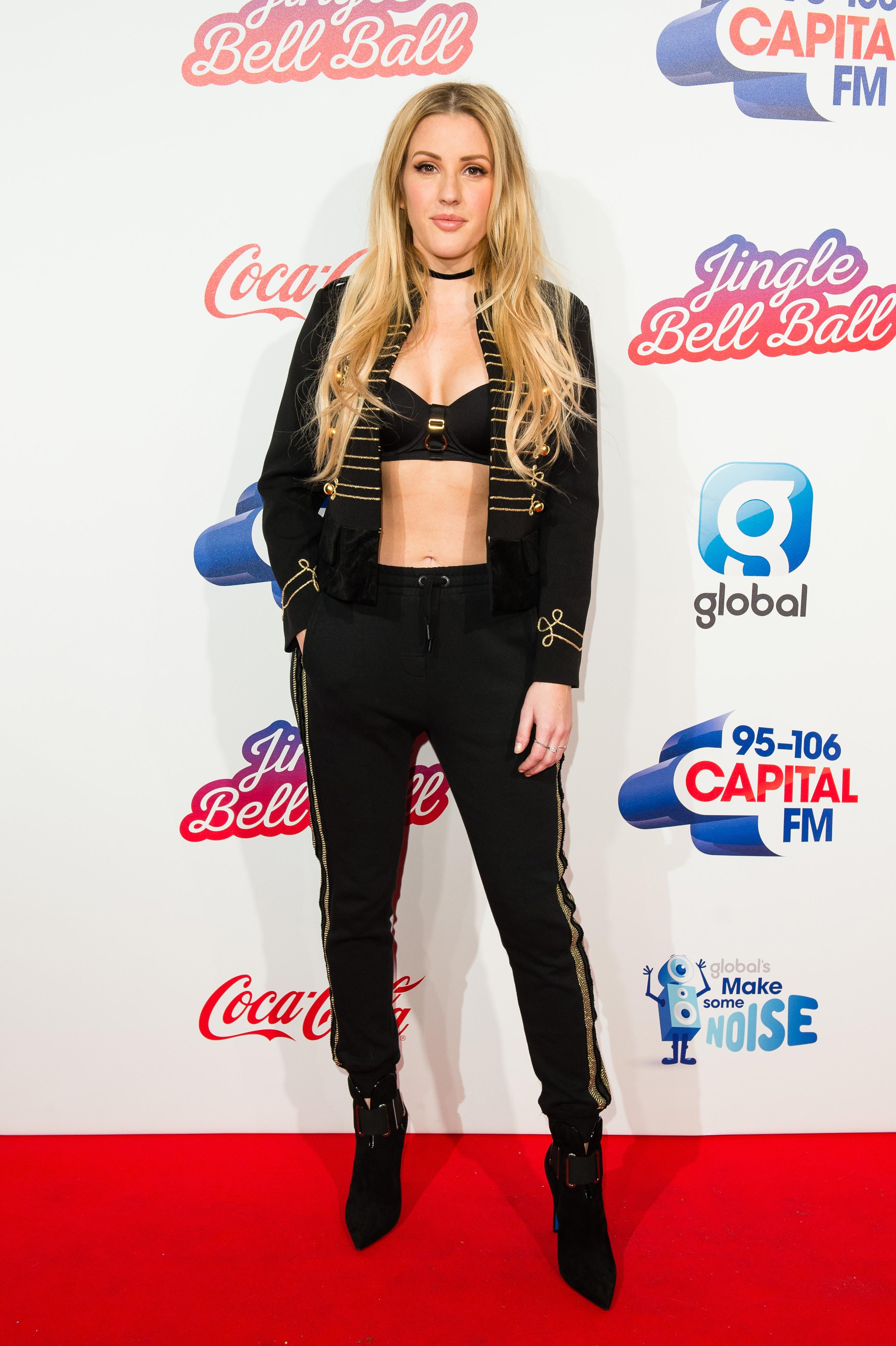 Ellie Goulding Jingle Bell Ball 2016 Red Carpet