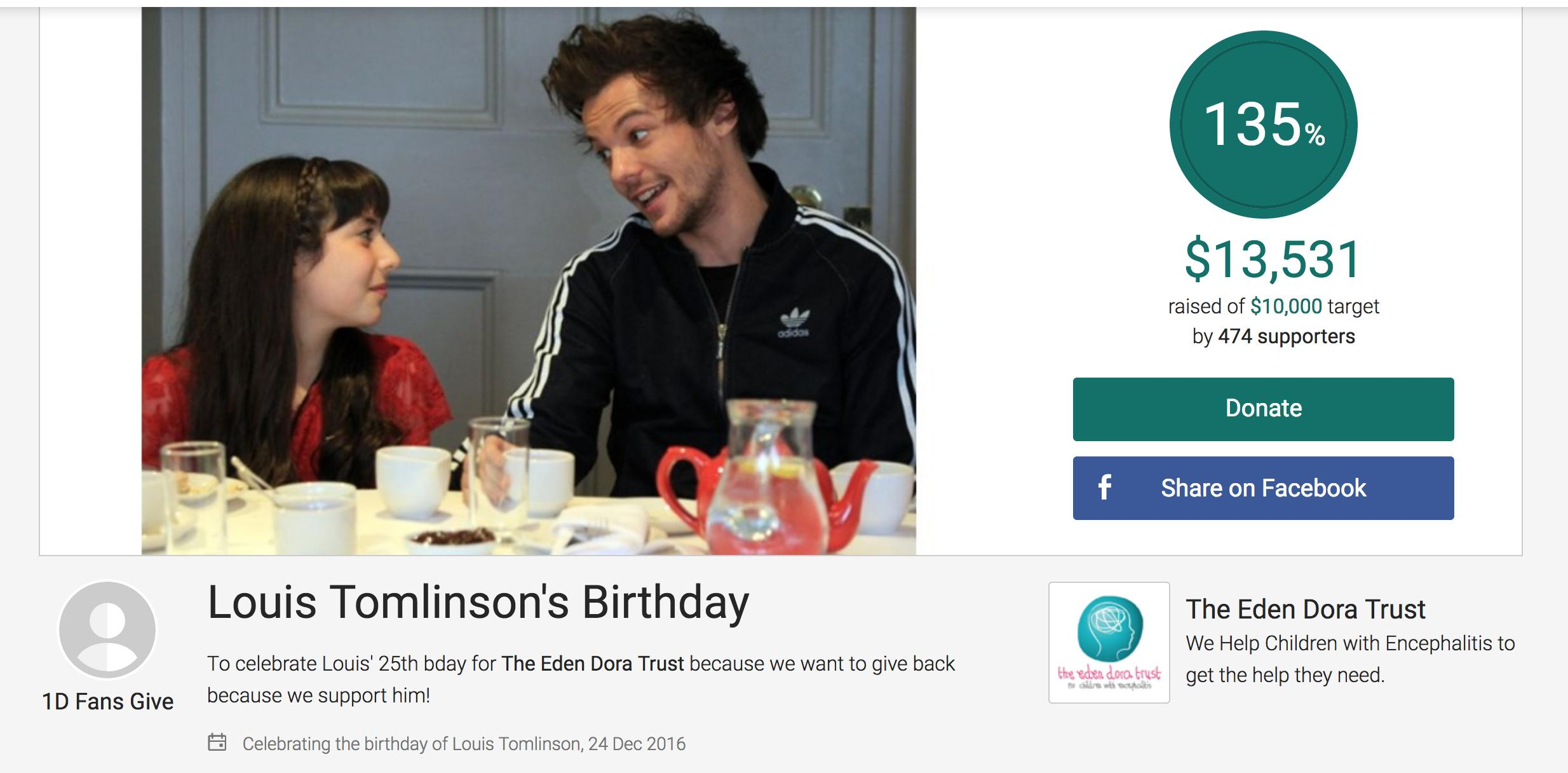 Louis Tomlinson Charity