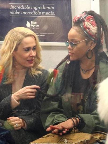 Rihanna Dreadlocks Subway Oceans 8